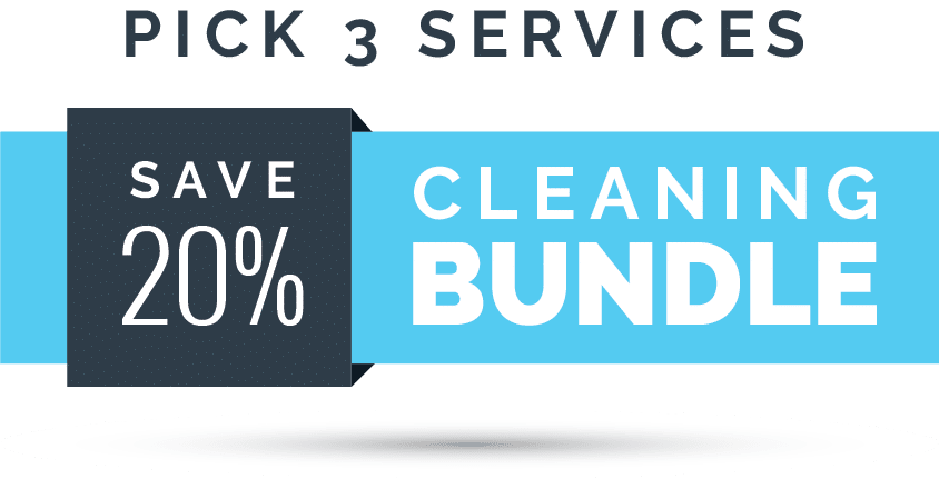 Pick any 3 services from our cleaning bundle and save 20%