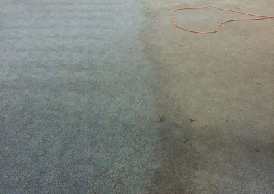 Carpet cleaning in progress for a school in suburban Adelaide