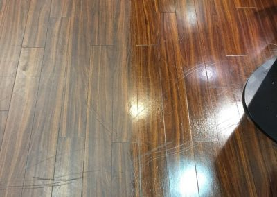 One Shot Cleaning was contracted by this Prospect Client for cleaning the hardwood floors in their home