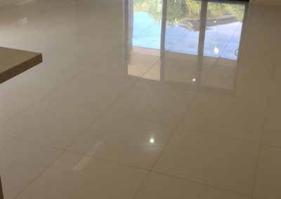 We used the latest truck mount technology for tile and grout cleaning in this Rose Park client's living room