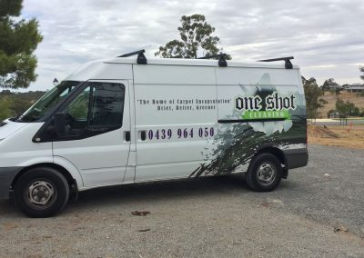 One Shot Cleaning have a fleet of well equipped service vans for reaching any location promptly