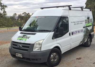One Shot Cleaning's fully equipped Van enroute to a commercial cleaning job in Adelaide Hills