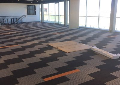 On site, carpet cleaning project in a Port Adelaide office building