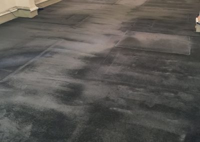 Carpet cleaning in progress in a Marion client's home