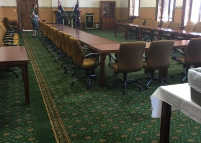 We were contracted for carpet cleaning in this conference hall in an Adelaide based council building