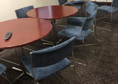 Upholstery cleaning using carbonated technique for the conference hall in this Adelaide based commercial building