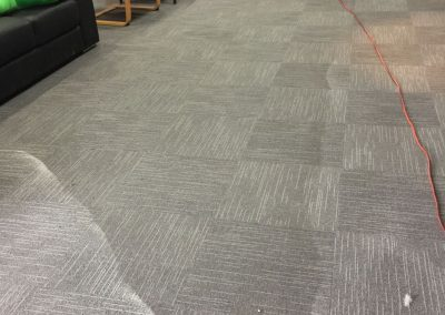 We used steam carpet cleaning for this Semaphore based automobile store
