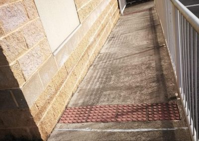 Before shots of tiles with dirt and grime in suburban Adelaide