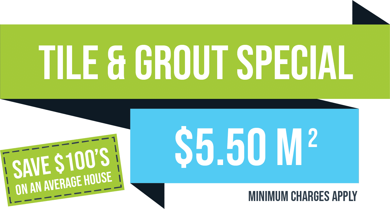 Tile & Grout Cleaning Special Package - $5.50 per sq metre