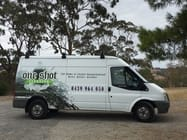 One of our fully fitted cleaning service vehicles on site at a pressure cleaning job in suburban Adelaide